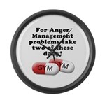 Anger management Large Wall Clock