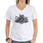 Medieval Armor Women's V-Neck T-Shirt