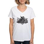 Medieval Armor Women's V-Neck T-Shirt