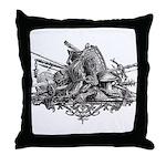 Medieval Armor Throw Pillow