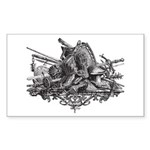 Medieval Armor Sticker (Rectangle 10 pk)