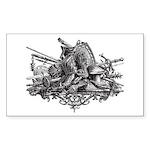 Medieval Armor Sticker (Rectangle 10 pk)