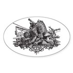 Medieval Armor Sticker (Oval 50 pk)