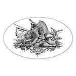 Medieval Armor Sticker (Oval 50 pk)