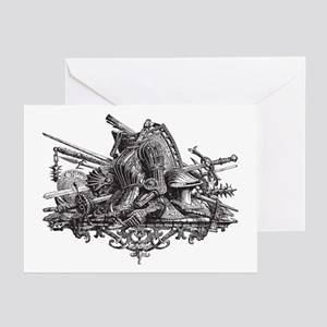 Medieval Armor Greeting Cards (Pk of 20)