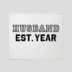 Husband Established Year Personalize It! Throw Bla