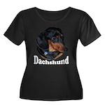 Dachshund Women's Plus Size Scoop Neck Dark T-Shir