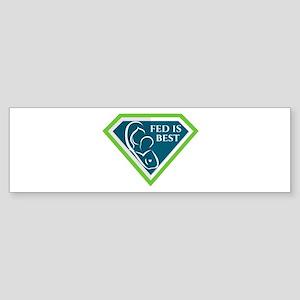 Original Fed is Best Logo Bumper Sticker