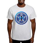 Blue-Silver Goddess Pentacle Light T-Shirt