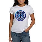 Blue-Silver Goddess Pentacle Women's T-Shirt