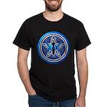 Blue-Silver Goddess Pentacle Dark T-Shirt