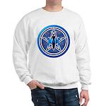 Blue-Silver Goddess Pentacle Sweatshirt