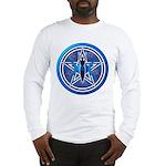 Blue-Silver Goddess Pentacle Long Sleeve T-Shirt