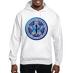 Blue-Silver Goddess Pentacle Hooded Sweatshirt
