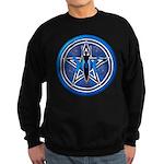 Blue-Silver Goddess Pentacle Sweatshirt (dark)