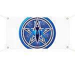 Blue-Silver Goddess Pentacle Banner