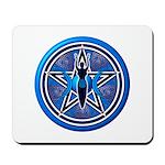Blue-Silver Goddess Pentacle Mousepad
