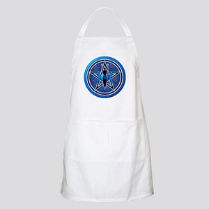 Blue-Silver Goddess Pentacle Apron