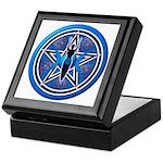 Blue-Silver Goddess Pentacle Keepsake Box