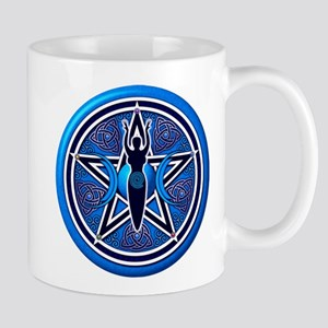 Blue-Silver Goddess Pentacle Mug