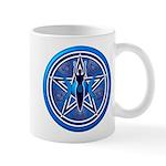 Blue-Silver Goddess Pentacle Mug