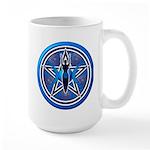 Blue-Silver Goddess Pentacle Large Mug
