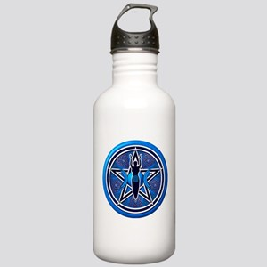 Blue-Silver Goddess Pentacle Stainless Water Bottl