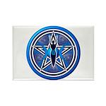 Blue-Silver Goddess Pentacle Rectangle Magnet (100