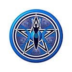 Blue-Silver Goddess Pentacle 3.5