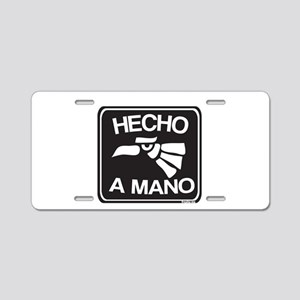 Hecho a Mano Aluminum License Plate