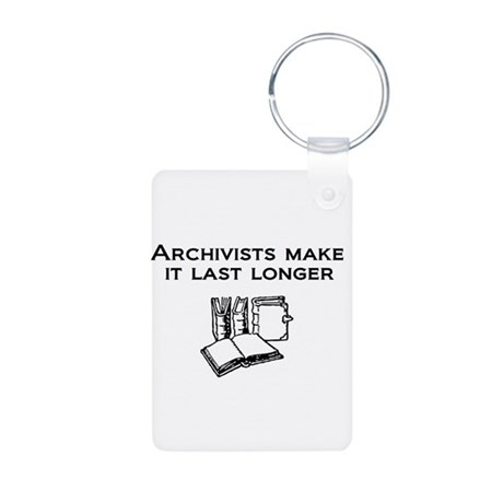 Archivists Make it Last Longe Aluminum Photo Keych