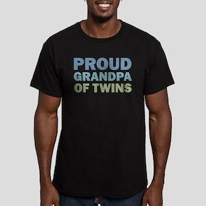 Proud Grandpa of Twins Men's Fitted T-Shirt (dark)