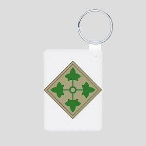 4th Infantry Aluminum Photo Keychain