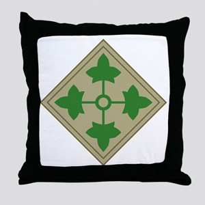 4th Infantry Throw Pillow