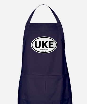Cute Ukelele Apron (dark)