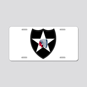 2nd Infantry Aluminum License Plate