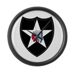 2nd Infantry Large Wall Clock