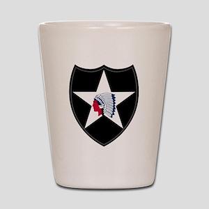 2nd Infantry Shot Glass