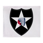 2nd Infantry Throw Blanket