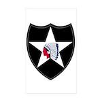 2nd Infantry Sticker (Rectangle 50 pk)