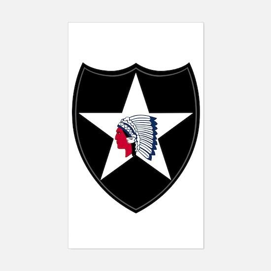2nd Infantry Sticker (Rectangle)
