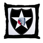 2nd Infantry Throw Pillow