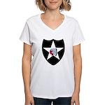 2nd Infantry Women's V-Neck T-Shirt