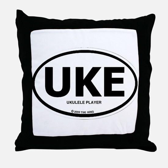 Cute Ukulele player Throw Pillow