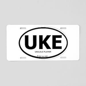 Tiki King UKE Logo Aluminum License Plate
