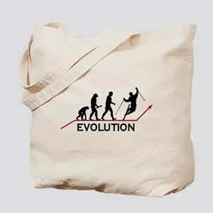 Skiing Evolution Tote Bag