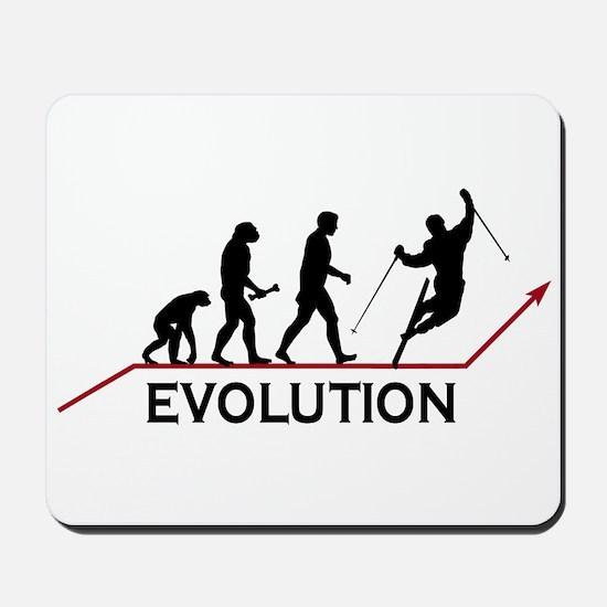 Skiing Evolution Mousepad