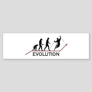 Skiing Evolution Sticker (Bumper)