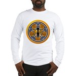 Gold-Blue Goddess Pentacle Long Sleeve T-Shirt
