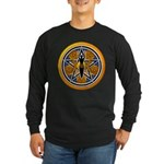 Gold-Blue Goddess Pentacle Long Sleeve Dark T-Shir